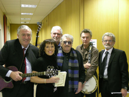 Tony Malone, Kathy Nugent, Charlie McGettigan, Pete St John, Gerry O'Connor, Brian Furlong.